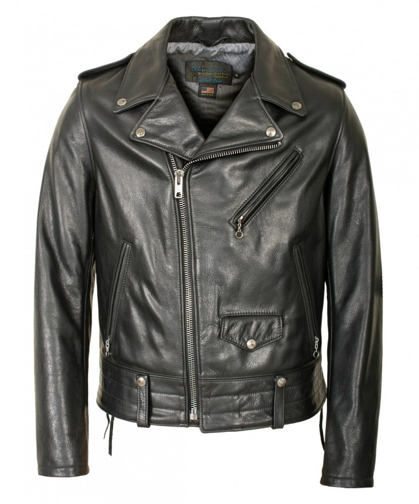 Куртка косуха SCHOTT 525 Natural Pebble Cowhide Motorcycle Leather Jacket