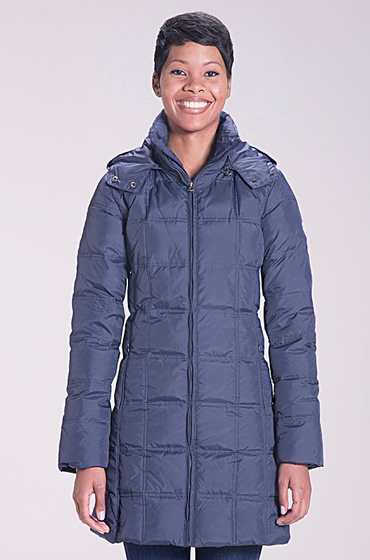 Пуховик SCHOTT Women's Long Down Filled Parka With Hood Navy